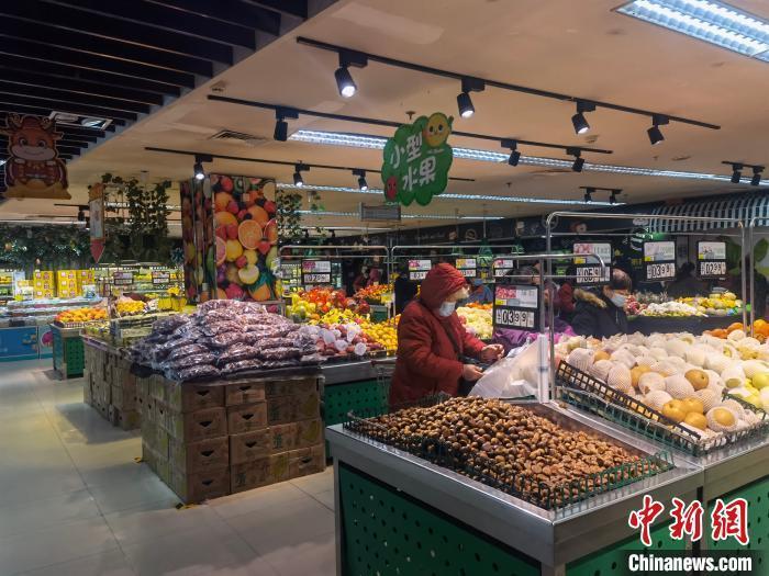 资料图:河北邢台北国超市。 张鹏翔 摄