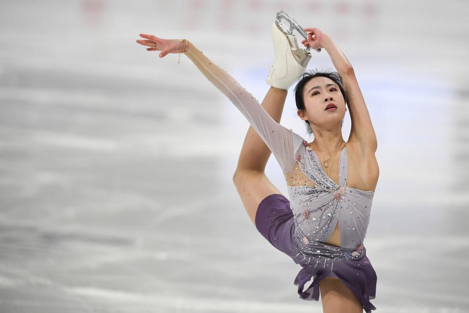 花滑世锦赛女单众名将失误 陈虹伊晋级自由滑